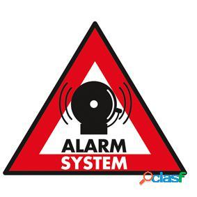 Pegatina de sistema de alarma de 123 x 148 mm