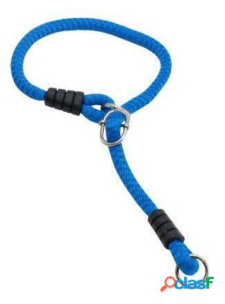 Petpall Collar Redondo Grueso 1.2 cm argolla corredera Azul