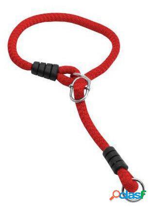 Petpall Collar Redondo Grueso 1,2 cm argolla corredera Rojo