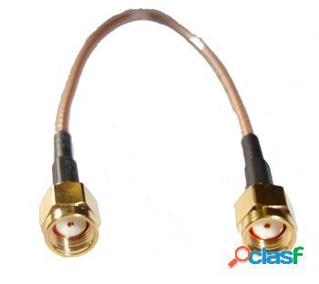 Pigtail 20cm cable 316 sma-rp macho a sma-rp macho