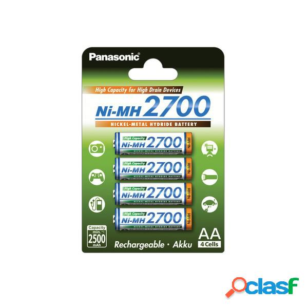 Pilas Panasonic NiMh Aa, pack 4 (Bk-3Hgae,4Be), original de