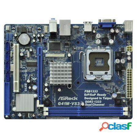 Placa base asrock g41m-vs3 r2.0 - intel skt775 - 2xddr3 1333