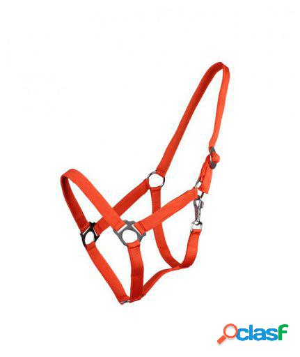QHP Cabezada Ajustable naranja pony