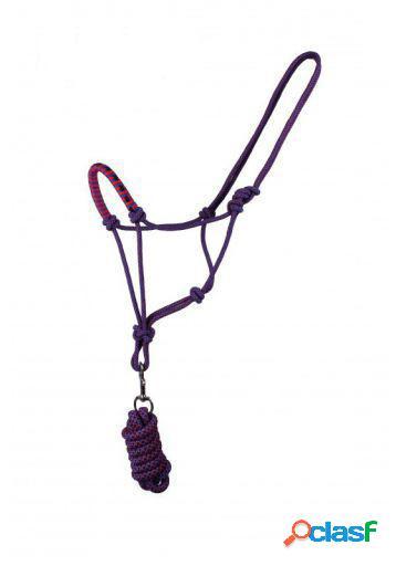 QHP Cabezada de Cuerda con ramal dazzling cob