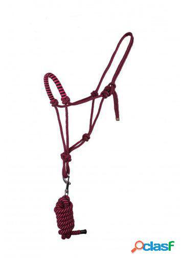 QHP Cabezada de Cuerda con ramal raspberry pony