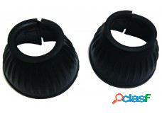 QHP Campanas de goma para cascos negro XL