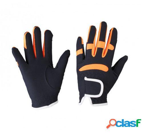 QHP Guante multi color azul oscuro/naranja junior T-3