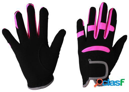 QHP Guante multi color negro/fucsia L
