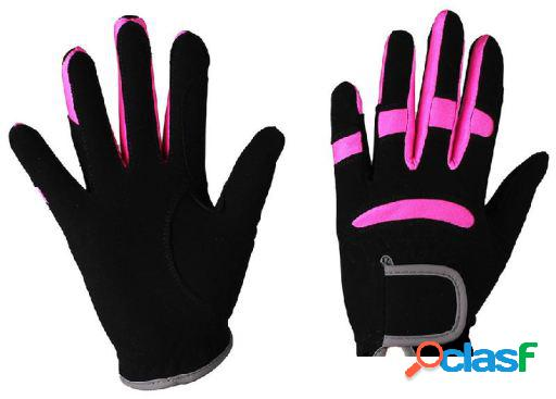 QHP Guante multi color negro/fucsia junior T-2