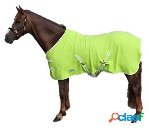 QHP Manta lana color con cinchas cruzadas lima 105 cm
