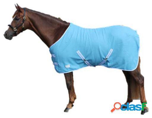 QHP Manta lana color con cinchas cruzadas sky 145 cm