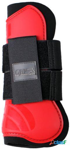 QHP Protector tendón rojo brillante pony