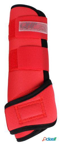 QHP Protectores air neopreno rojo brillante S