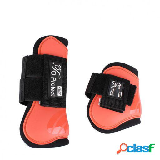 QHP Set protectores tendón luxury hot coral pony