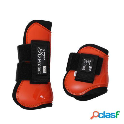 QHP Set protectores tendón luxury naranja full