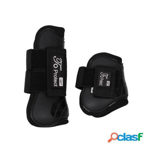 QHP Set protectores tendón luxury negro full