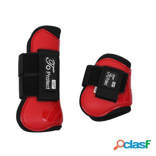 QHP Set protectores tendón luxury rojo brillante full