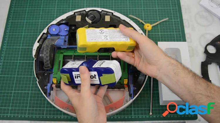 Servicio de limpieza y cambio de bateria para Roomba -solo