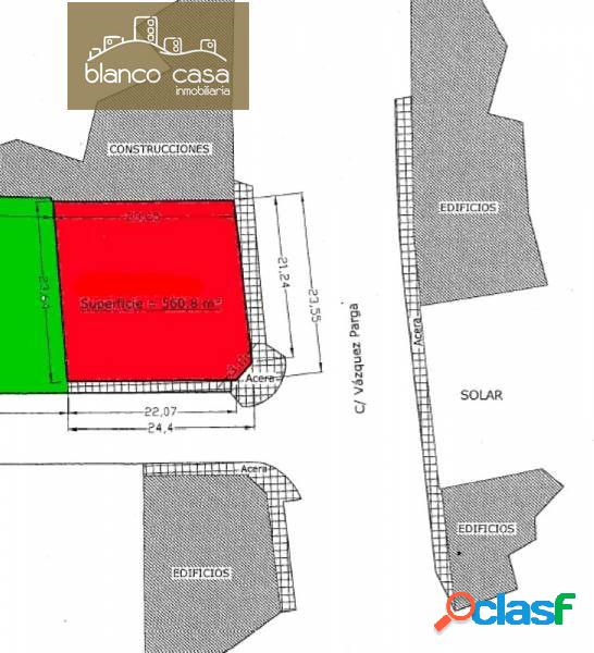 Solar urbanizable de 560m2 en Vazquez de Parga junto a