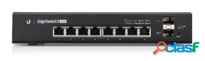 Switch unifi de 8 puertos gigabit, 4 de ellos con salida poe