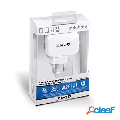 TooQ Tqwc-1S02Wt Cargador de pared 2 Usb Blanco, original de