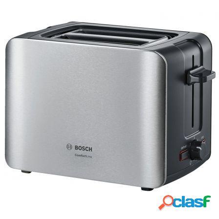 Tostador de pan bosch comfortline tat6a913 acero - 1090w - 2