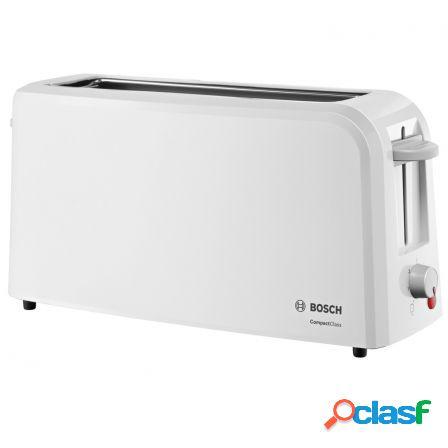 Tostador de pan bosch compactclass tat3a001 blanco - 980w -