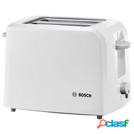 Tostador de pan bosch tat3a011 blanco - 980w - 2 ranuras