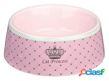 Trixie Comedero Cerámica Cat Princess Rosa