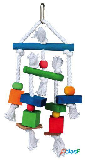 Trixie Juguete Natural Con Piel Y Cuerda 24 cm