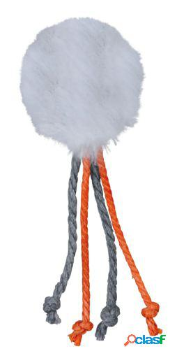 Trixie Pelota de Peluche con Cascabel y Cuerdas 4 cm