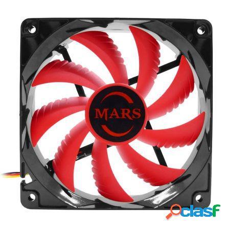 Ventilador mars gaming mf12 - 12cm - 9 paletas - 14db - 1.8w