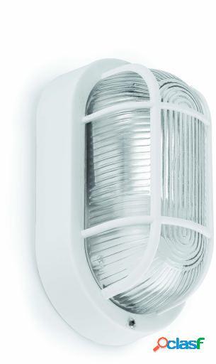 Wellindal Aplique Ovalo-N Estanco 18 1 Luz E27 60W Blanco