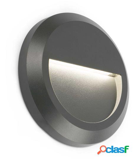 Wellindal Aplique grant-r gris oscuro led 1w 3000k