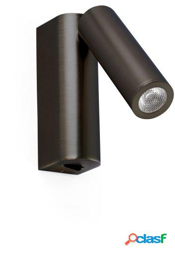 Wellindal Aplique rob lector bronce led 3w 3000k