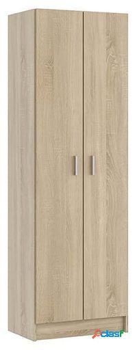 Wellindal Armario de 2 puertas con estantes