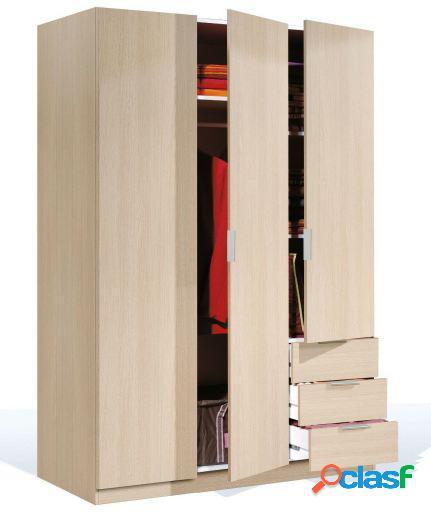 Wellindal Armario de 3 puertas con cajones