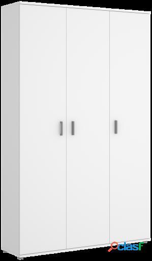Wellindal Armario multiusos de 3 puertas