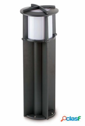 Wellindal Baliza Cross-1 Gris Oscuro 1Xe27 20W H60