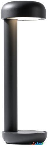 Wellindal Baliza Grow Gris Oscuro Led 9W 3000K 16.2x16.2x50