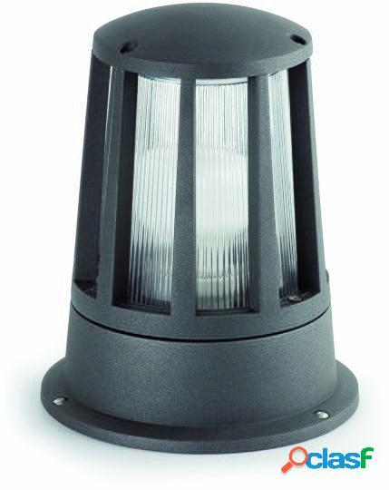 Wellindal Baliza Surat Gris Oscuro 1 Luz E27 20W
