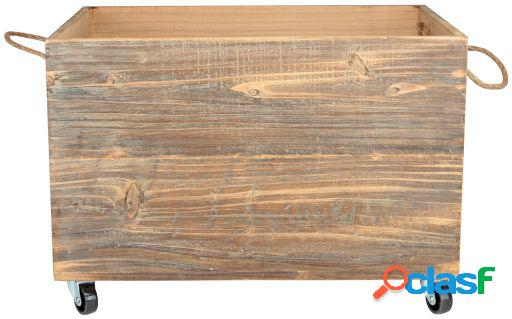 Wellindal Caja Thomas de madera con ruedas.