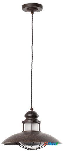 Wellindal Colgante Winch 1 Luz E27 60W Marrón