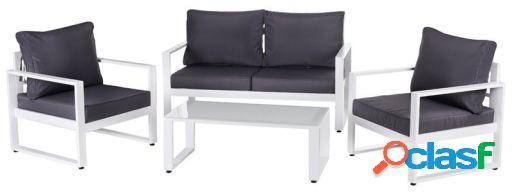 Wellindal Conjunto anne relax aluminio Blanco/Gris