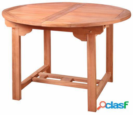 Wellindal Kayla mesa redonda extensible madera de teka 82494
