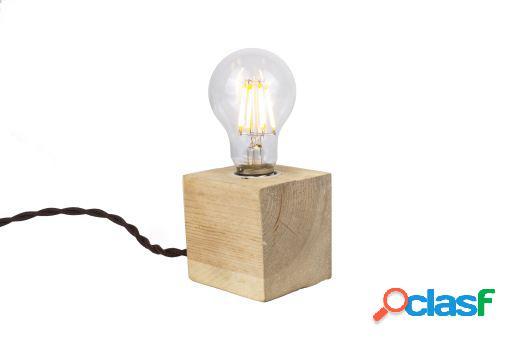 Wellindal Lámpara de madera Block