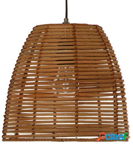 Wellindal Lámpara de techo ratán Natural