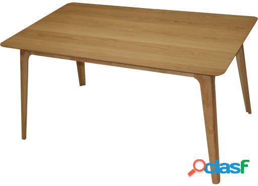 Wellindal Mesa comedor madera Rustan roble 150x90x75