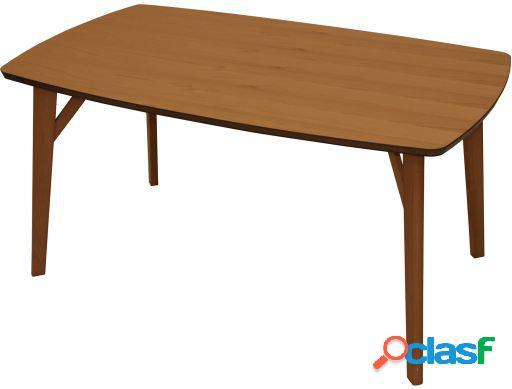 Wellindal Mesa comedor madera color haya+90899 madera de