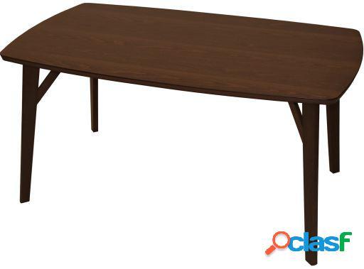 Wellindal Mesa comedor madera color nogal+90898 madera de